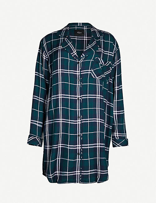 RAILS Checked flannel night dress
