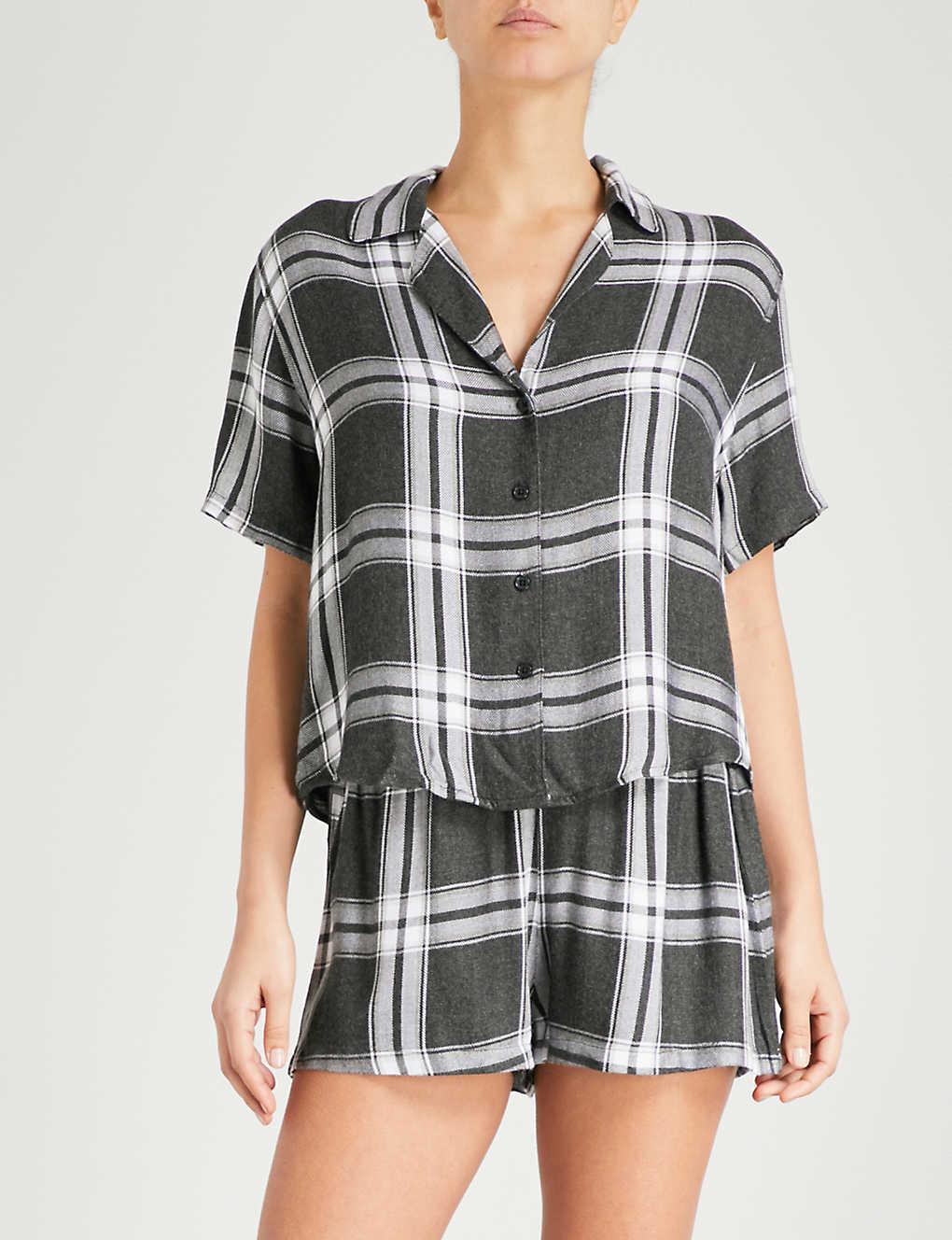 bad2e6c2834dd7 RAILS - Check flannel pyjama set | Selfridges.com