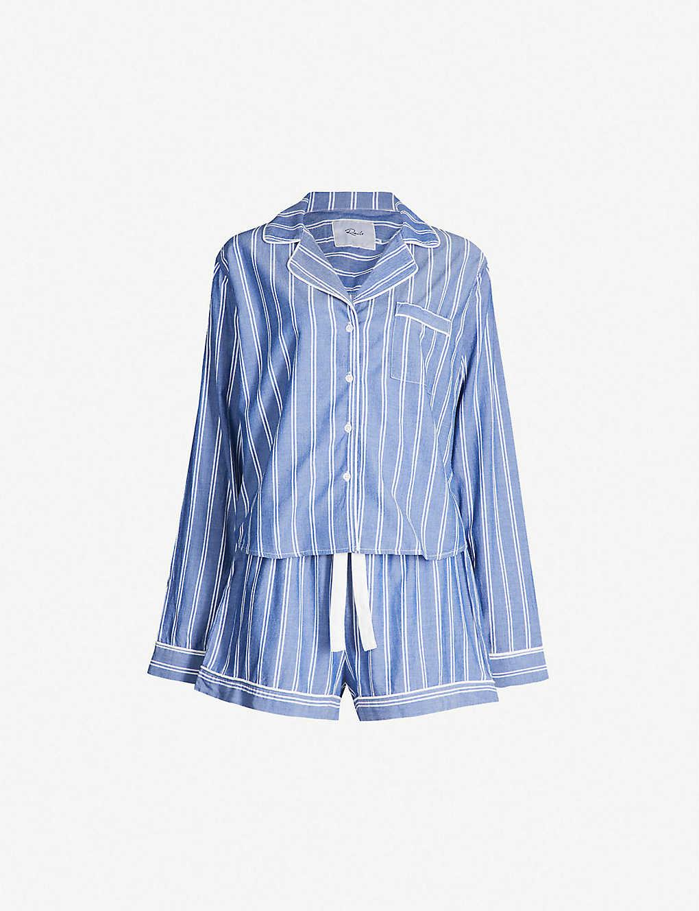addfb4ab878433 RAILS - Romana striped cotton-blend pyjama set | Selfridges.com