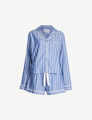 RAILS Romana striped cotton-blend pyjama set