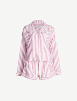 RAILS Striped cotton-blend pyjama set