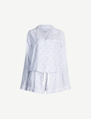 RAILS Moon and star-print cotton-blend pyjama set