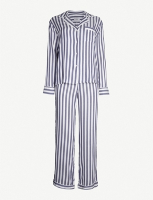 RAILS Striped jersey pyjama set