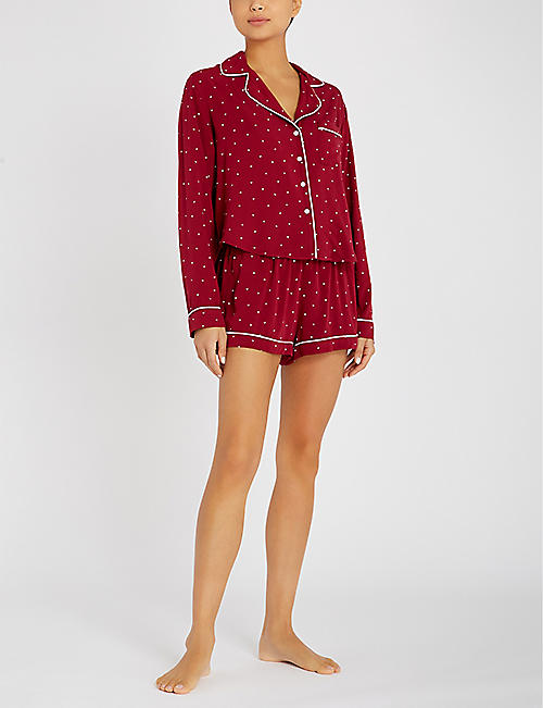 RAILS Heart-print jersey pyjama set