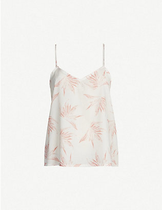 DESMOND AND DEMPSEY: Deia cotton camisole pyjama top