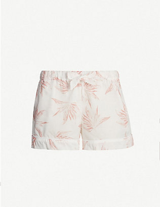 DESMOND AND DEMPSEY: Deia cotton pyjama shorts