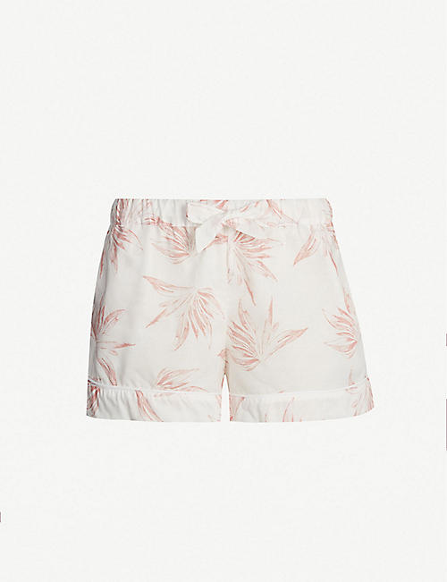 DESMOND AND DEMPSEY Deia cotton pyjama shorts