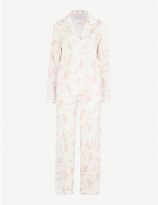 DESMOND AND DEMPSEY: Deia cotton-voile pyjama set