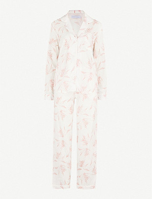 DESMOND AND DEMPSEY Deia cotton-voile pyjama set