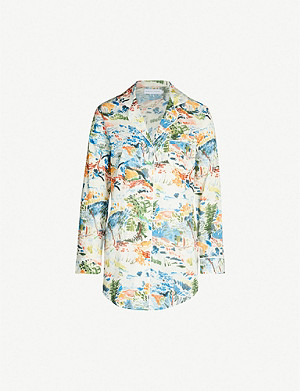 DESMOND AND DEMPSEY Fauvist cotton night dress
