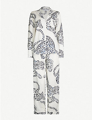 DESMOND AND DEMPSEY: Printed cotton pyjama set