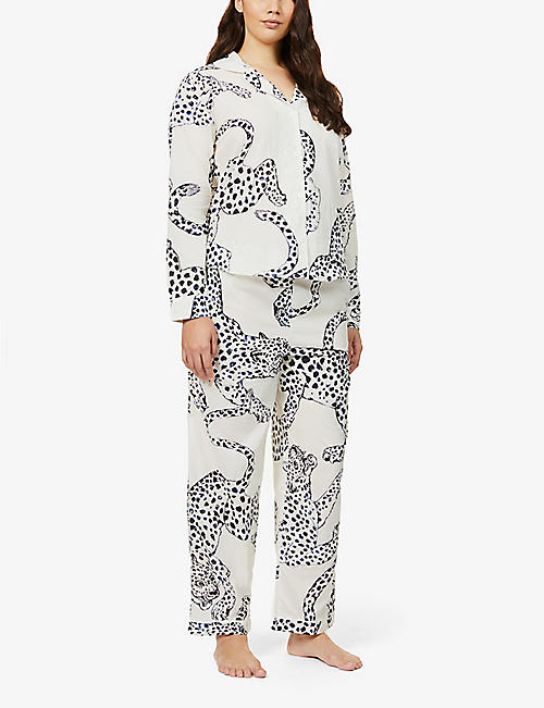 DESMOND AND DEMPSEY Printed cotton pyjama set