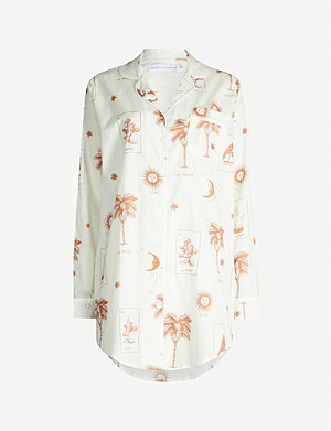 DESMOND AND DEMPSEY La Loteria cotton-poplin sleepshirt