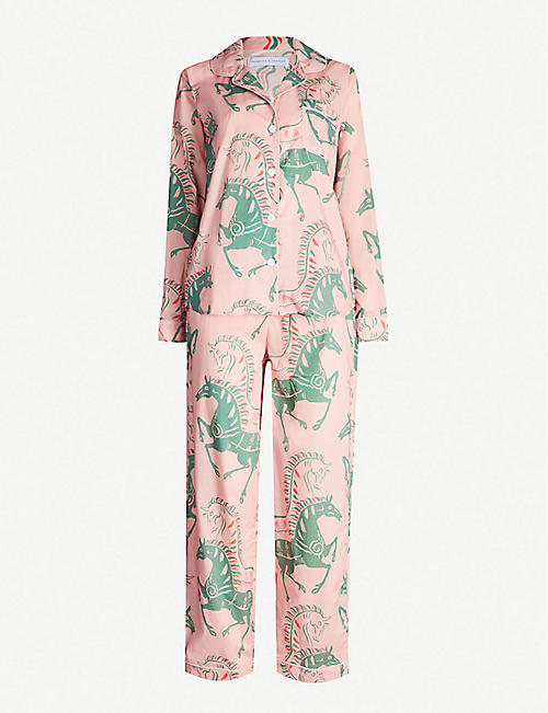 DESMOND AND DEMPSEY Caballo cotton-poplin pyjama set