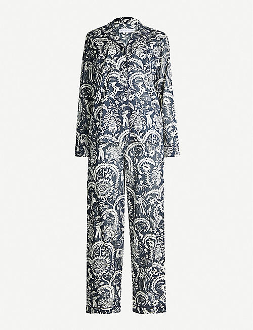 DESMOND AND DEMPSEY Milou wide-leg cotton pyjama bottoms