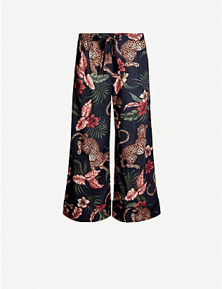 DESMOND AND DEMPSEY: Soleia-print wide-leg cotton pyjama bottoms