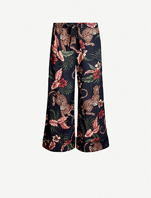 DESMOND AND DEMPSEY Soleia-print wide-leg cotton pyjama bottoms