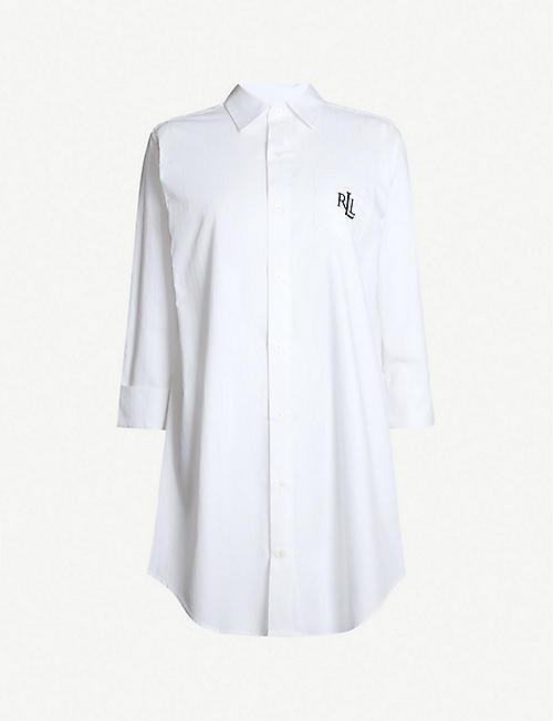 fbd14e9b RALPH LAUREN Branded cotton pyjama shirt dress
