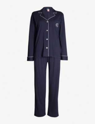 RALPH LAUREN Branded cotton-blend pyjama set