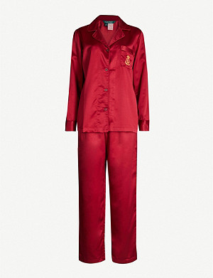 RALPH LAUREN Long-sleeved satin pyjama set