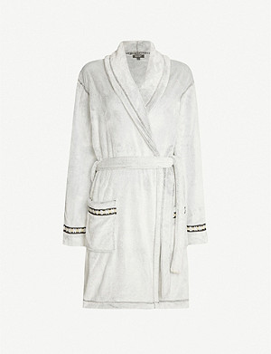 DKNY Relaxed-fit shawl-lapels dressing gown