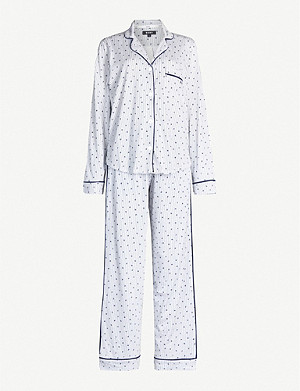 DKNY Graphic-print striped cotton-blend pyjama set