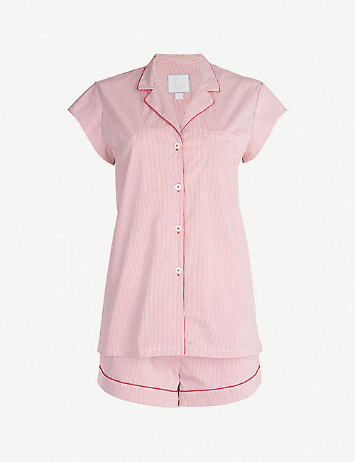 THREE J NYC Olivia striped cotton-blend pyjamas 59e1ab290a54