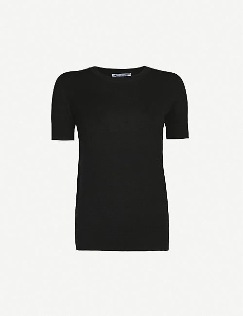 JOHNSTONS Round-neck wool T-shirt