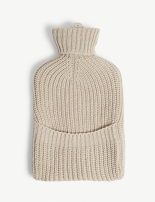 JOHNSTONS Hot water bottle and cashmere cover