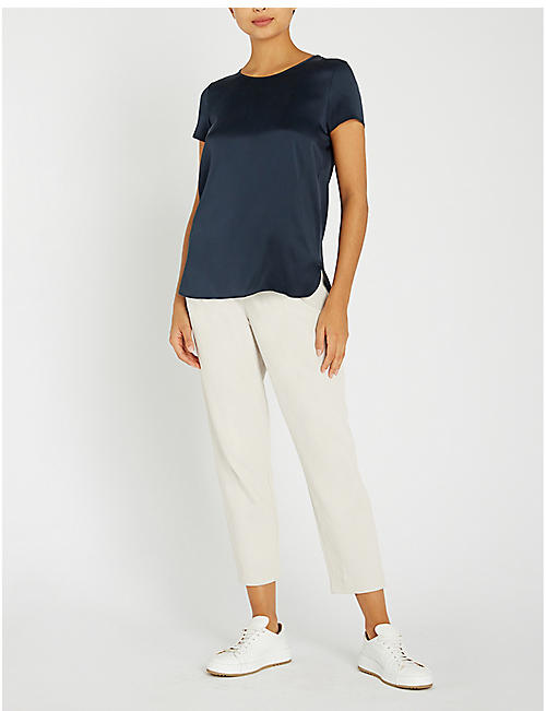 MAX MARA Cortona round-neck silk-blend top