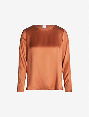 MAX MARA Moldava relaxed-fit stretch-silk top