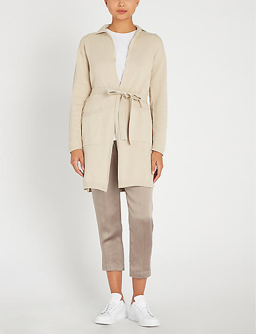 MAX MARA Terreno belted cotton-blend cardigan
