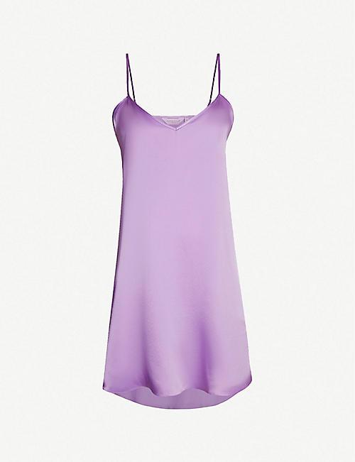 6c54e83f4ab6a ... racerback cotton top.  60.00. DEREK ROSE Bailey silk-satin chemise