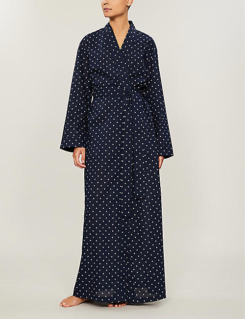 DEREK ROSE Nelson graphic-pattern cotton robe