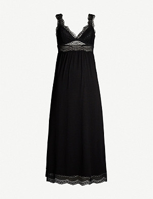 EBERJEY Myla lace-trimmed stretch-modal night dress