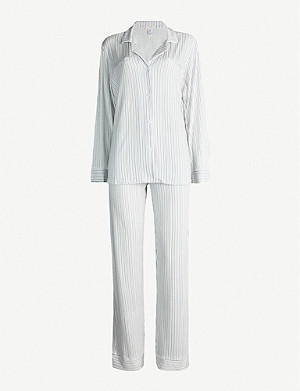 EBERJEY Nordic Stripes Heritage stretch-jersey pyjama set