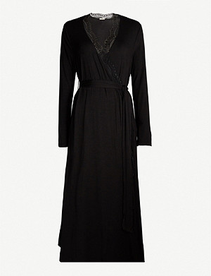 EBERJEY Myla Classic long stretch-jersey robe