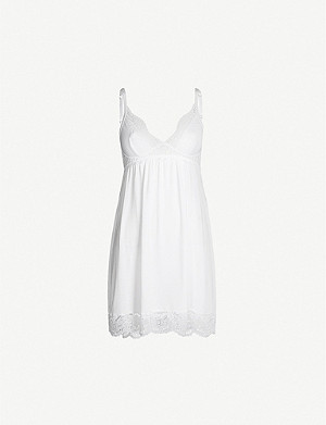 EBERJEY Beatrix V-neck jersey slip dress