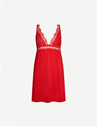 EBERJEY: Stretch-modal night dress