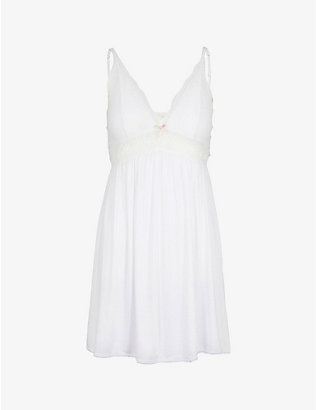 EBERJEY: Colette jersey and stretch-lace chemise