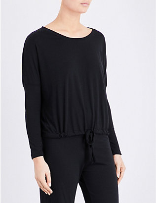 EBERJEY: Heather jersey pyjama top