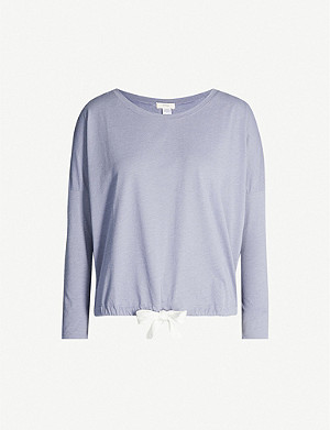 EBERJEY Heather jersey pyjama top