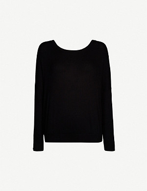 EBERJEY Elon ribbed-knit pyjama top