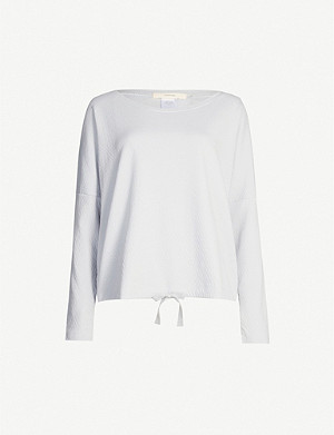 EBERJEY Olympic boxy-fit cotton-jersey pyjama top