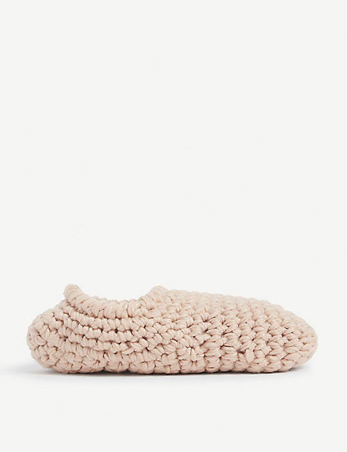 EBERJEY Fleece-lined knitted slipper socks