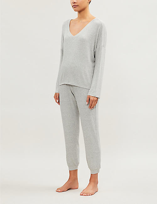 EBERJEY Elon Comfy stretch-jersey pyjama bottoms