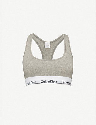 CALVIN KLEIN: Modern stretch-cotton bralette
