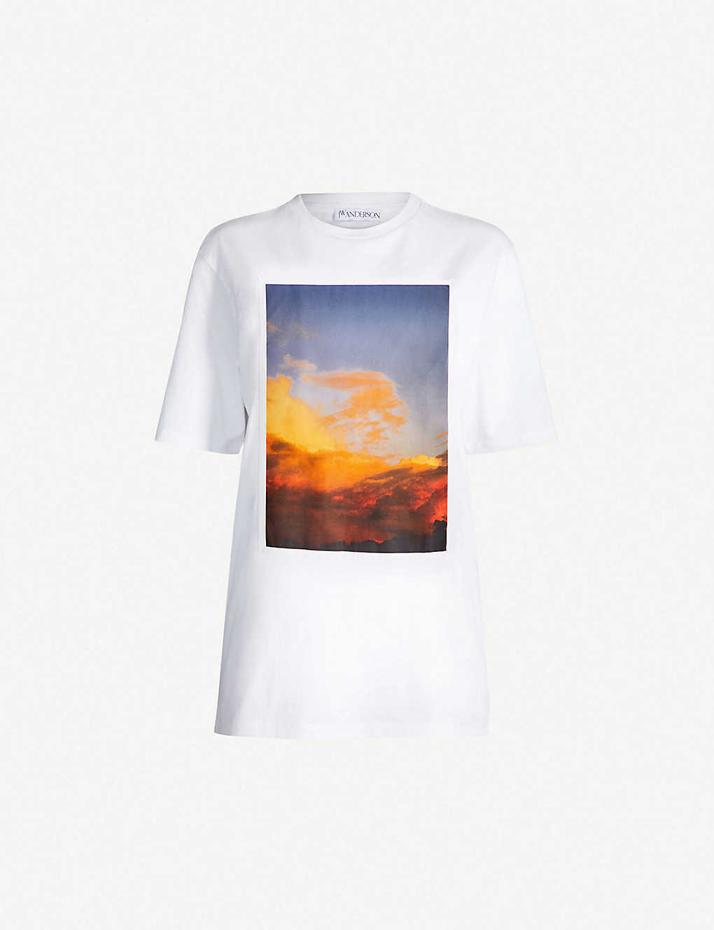 buy popular ee01d 135b7 JW ANDERSON - Alasdair-print cotton-jersey T-shirt ...