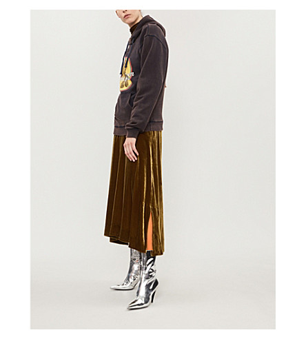Cola Boots Printed Cotton-Jersey Hoody in Ebony