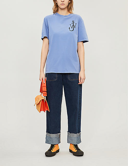JW ANDERSON Anchor logo-print cotton-jersey T-shirt
